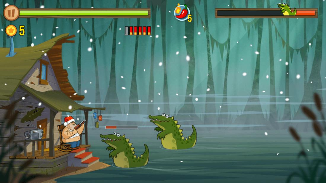 Скриншот #1 из игры Swamp Attack