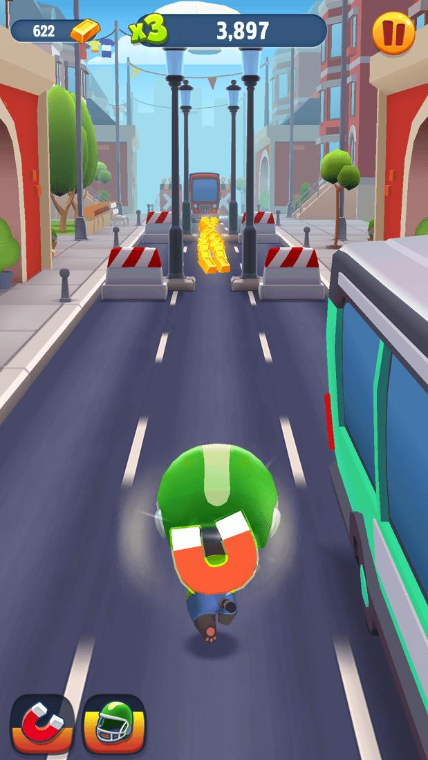 Скриншот #1 из игры Talking Tom Gold Run