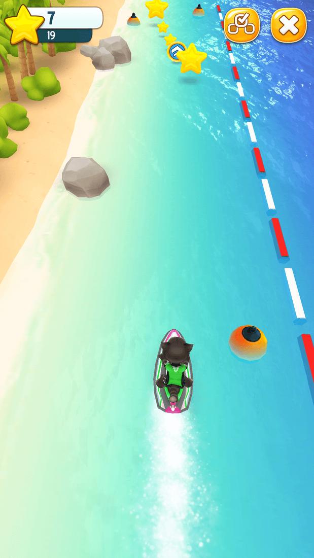 Скриншот #1 из игры Talking Tom Jetski
