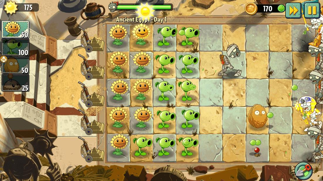 Скриншот #1 из игры Plants vs. Zombies 2