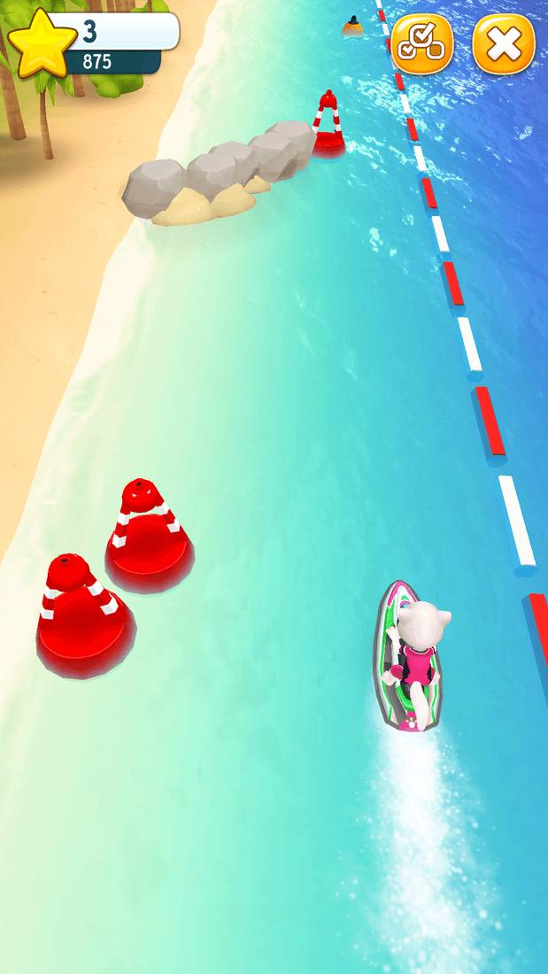 Скриншот #2 из игры Talking Tom Jetski