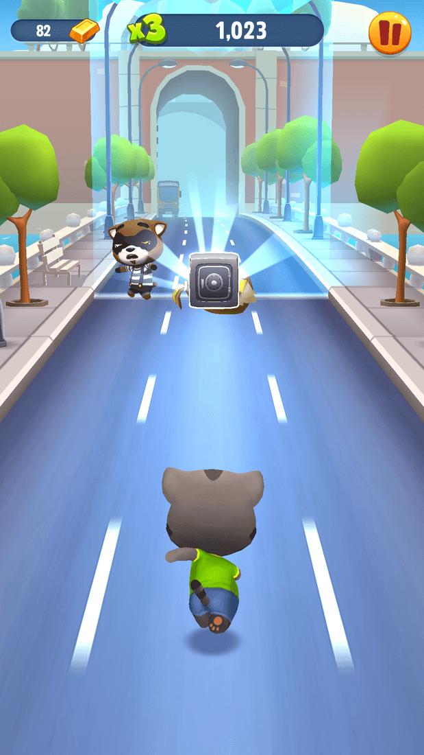 Скриншот #3 из игры Talking Tom Gold Run