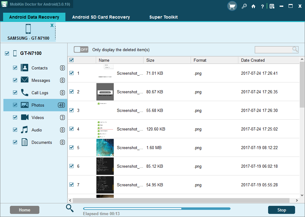 Скриншот #1 из программы MobiKin Doctor for Android