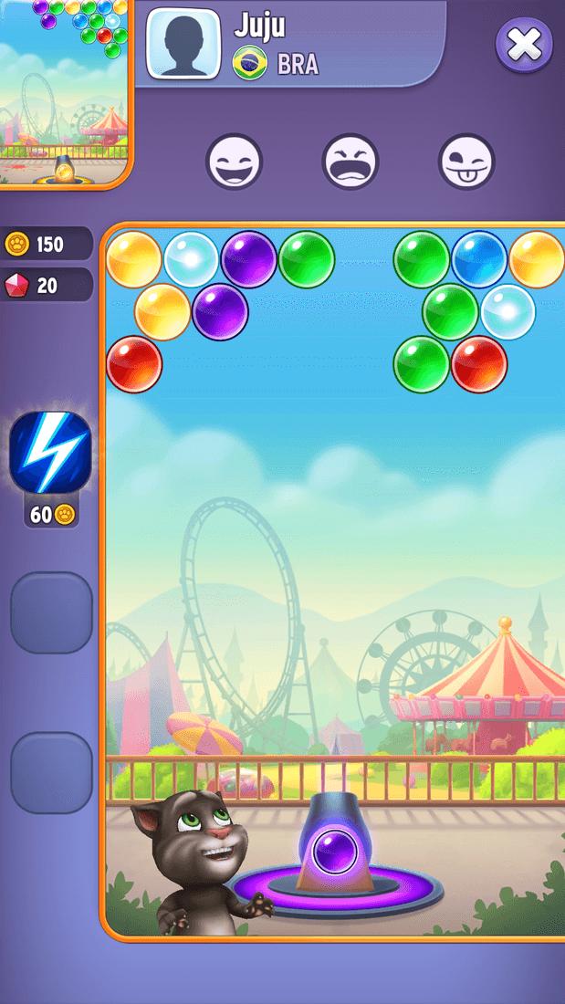 Скриншот #3 из игры Talking Tom Bubble Shooter