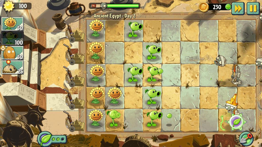 Скриншот #2 из игры Plants vs. Zombies 2