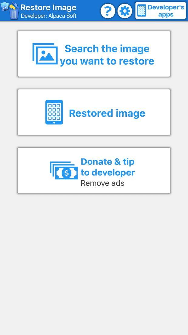 Скриншот #1 из программы Restore Image (Super Easy)