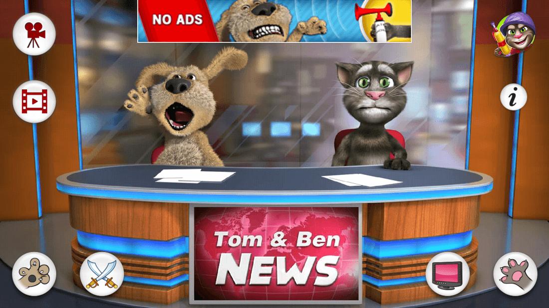 Скриншот #10 из игры Talking Tom & Ben News