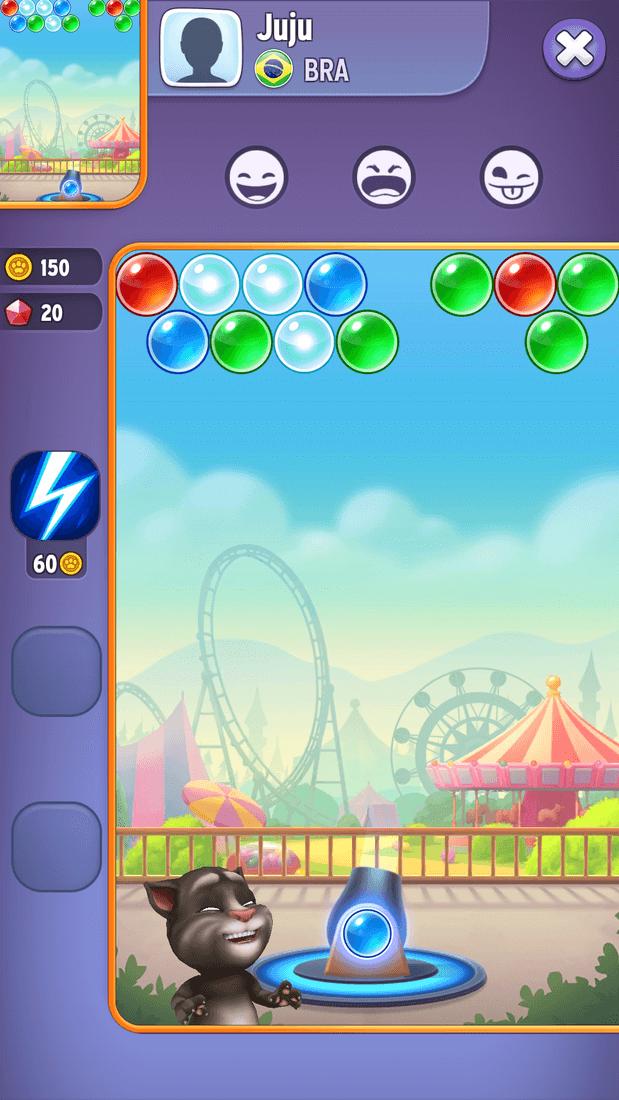 Скриншот #4 из игры Talking Tom Bubble Shooter