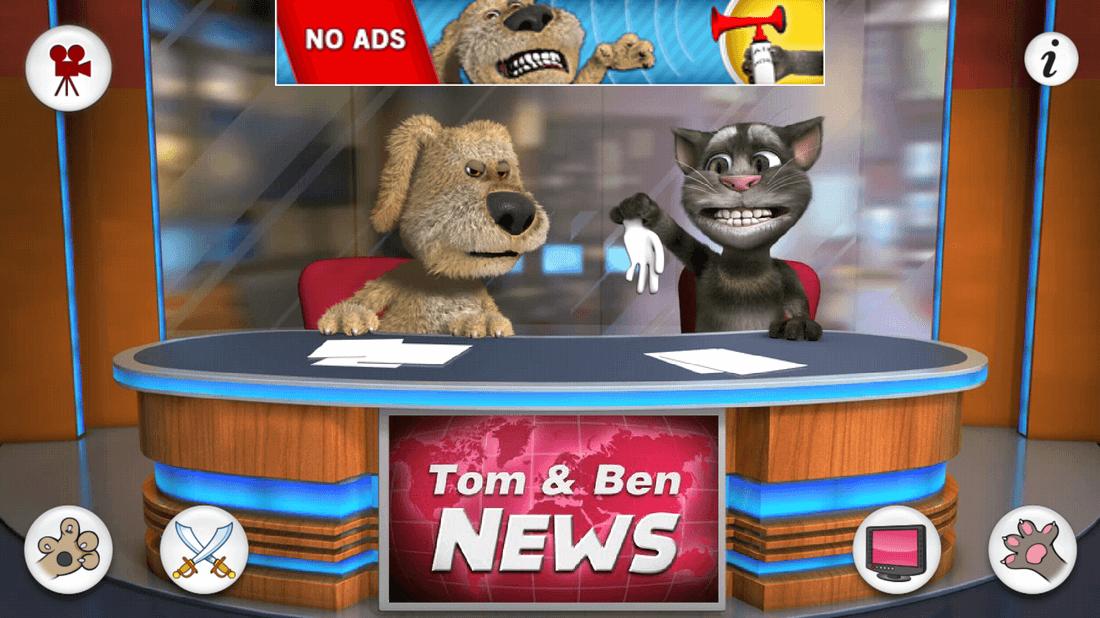 Скриншот #7 из игры Talking Tom & Ben News