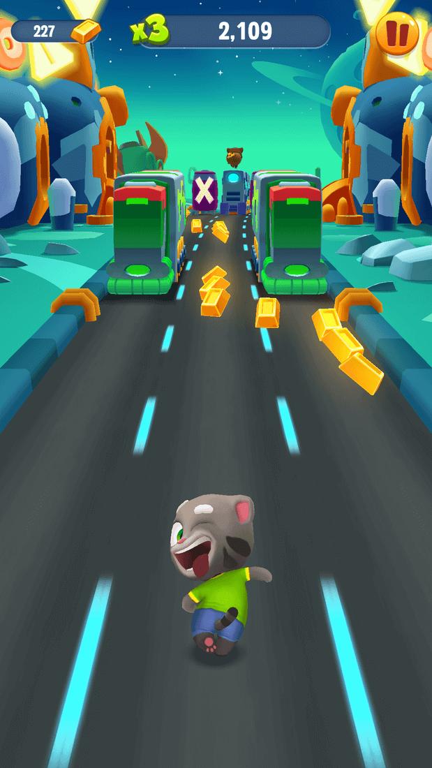 Скриншот #5 из игры Talking Tom Gold Run