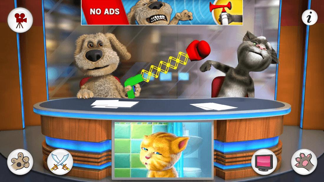 Скриншот #2 из игры Talking Tom & Ben News