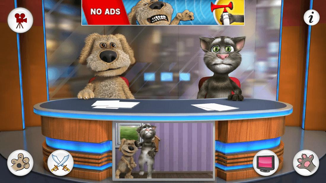 Скриншот #4 из игры Talking Tom & Ben News