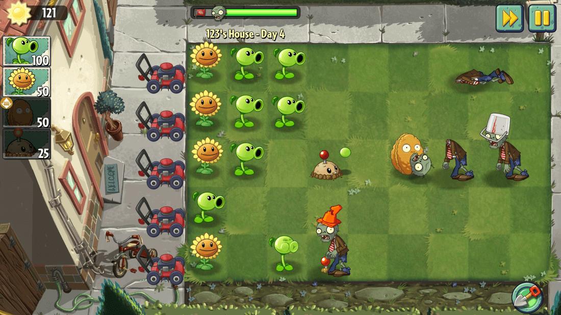 Скриншот #3 из игры Plants vs. Zombies 2