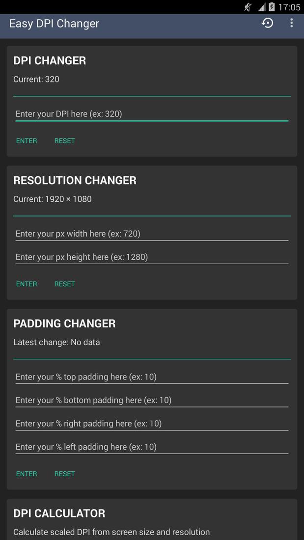 Скриншот #1 из программы Easy DPI Changer [Root]
