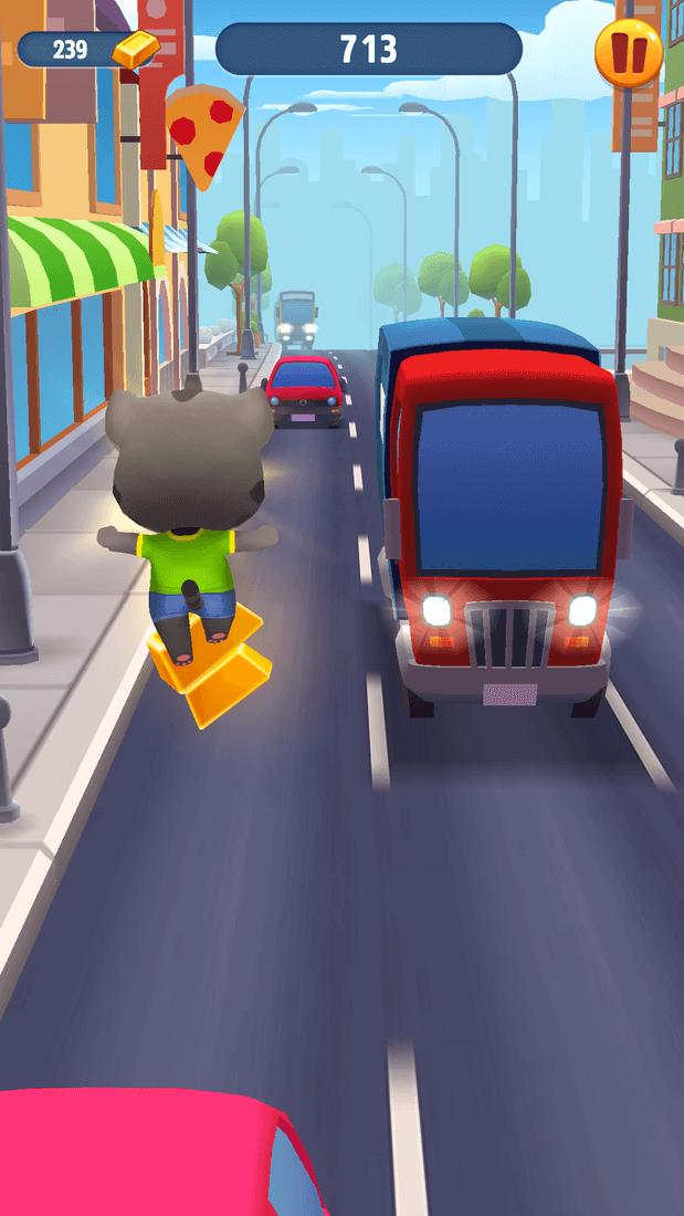 Скриншот #7 из игры Talking Tom Gold Run