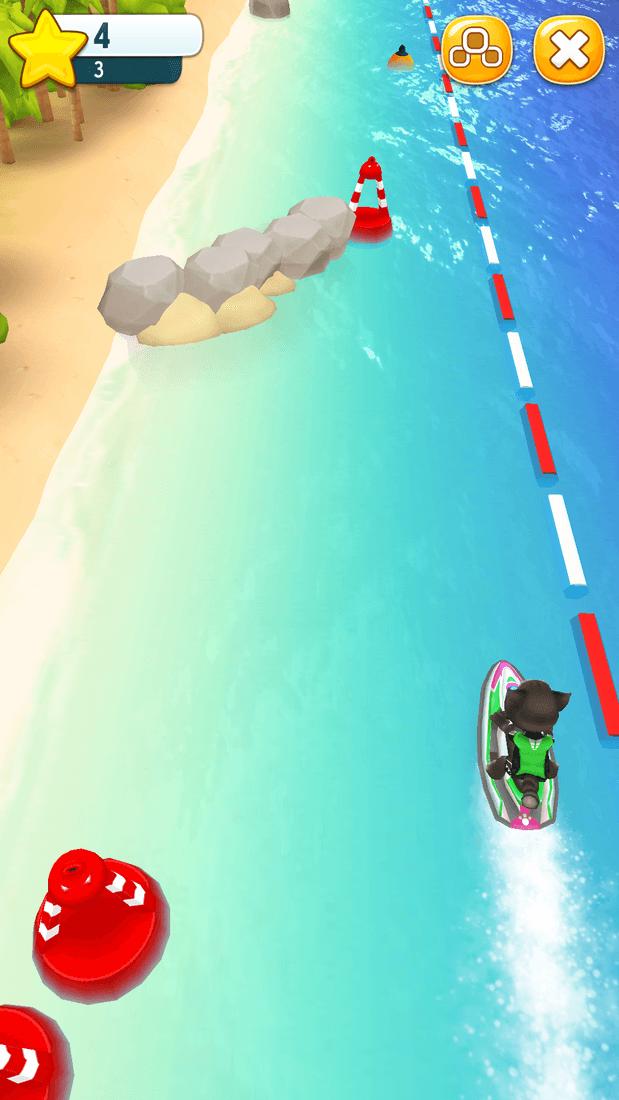 Скриншот #4 из игры Talking Tom Jetski