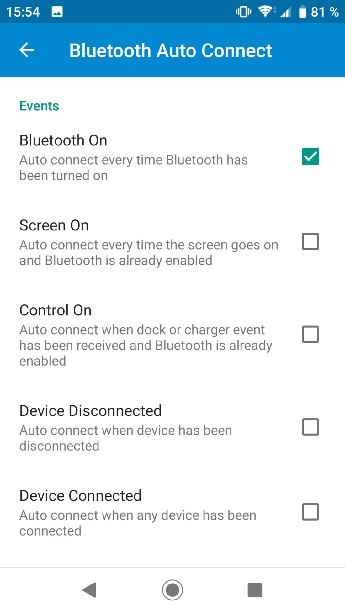 Скриншот #2 из программы Bluetooth Auto Connect