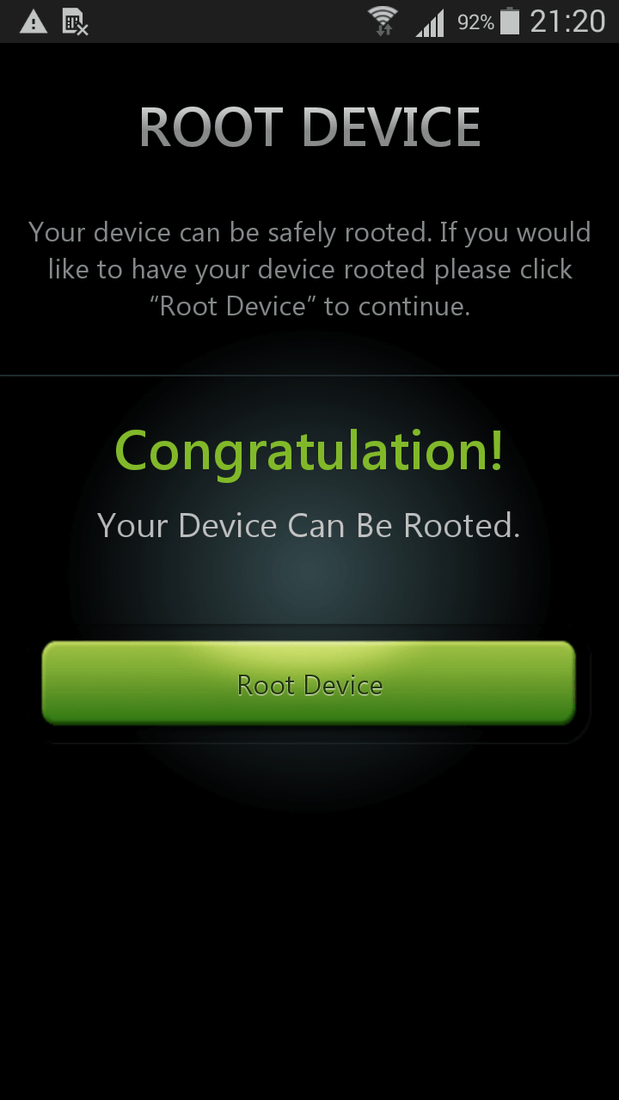 Скриншот #1 из программы One Click Root