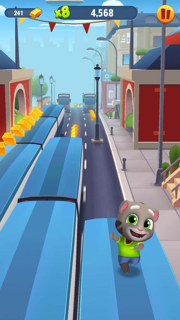 Скриншот #8 из игры Talking Tom Gold Run