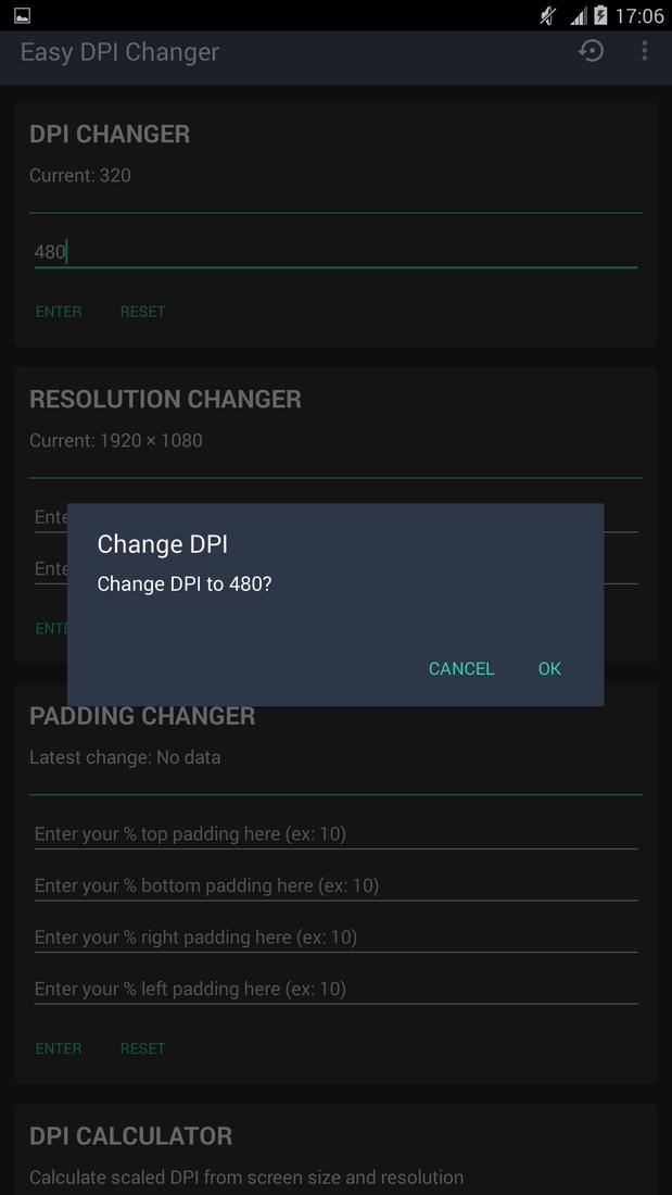 Скриншот #2 из программы Easy DPI Changer [Root]