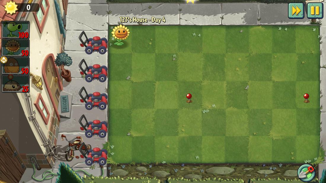 Скриншот #4 из игры Plants vs. Zombies 2