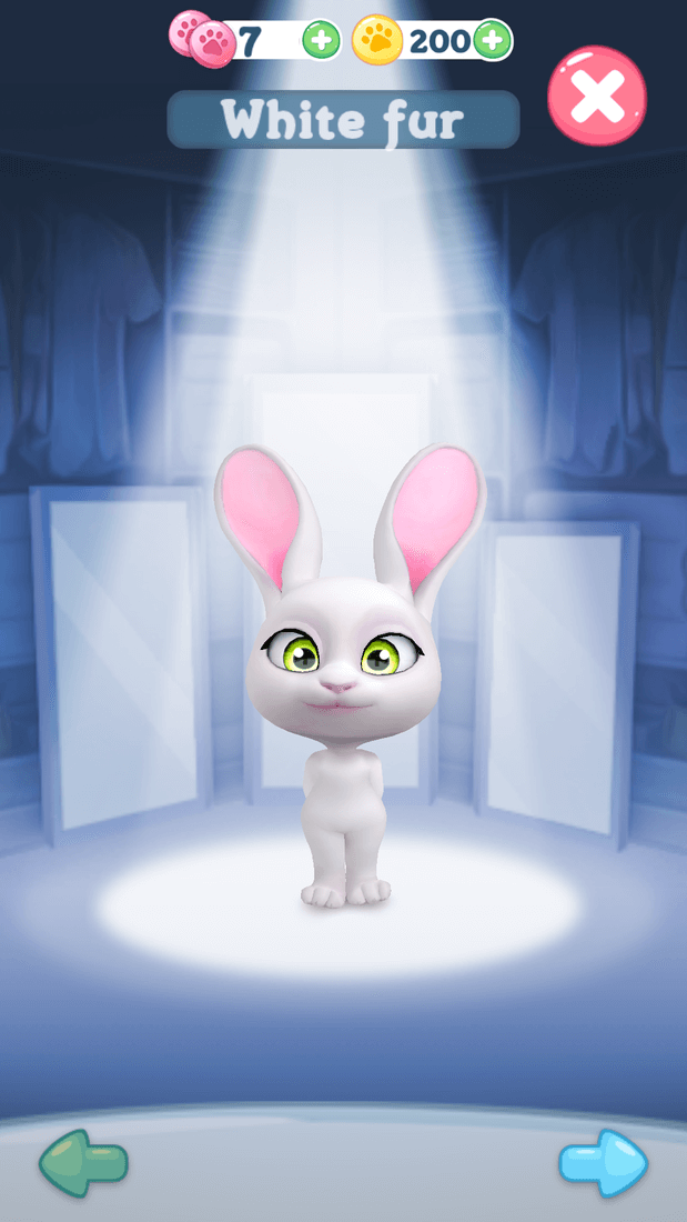 Скриншот #1 из игры Bu the Baby Rabbit - Virtual pets care game