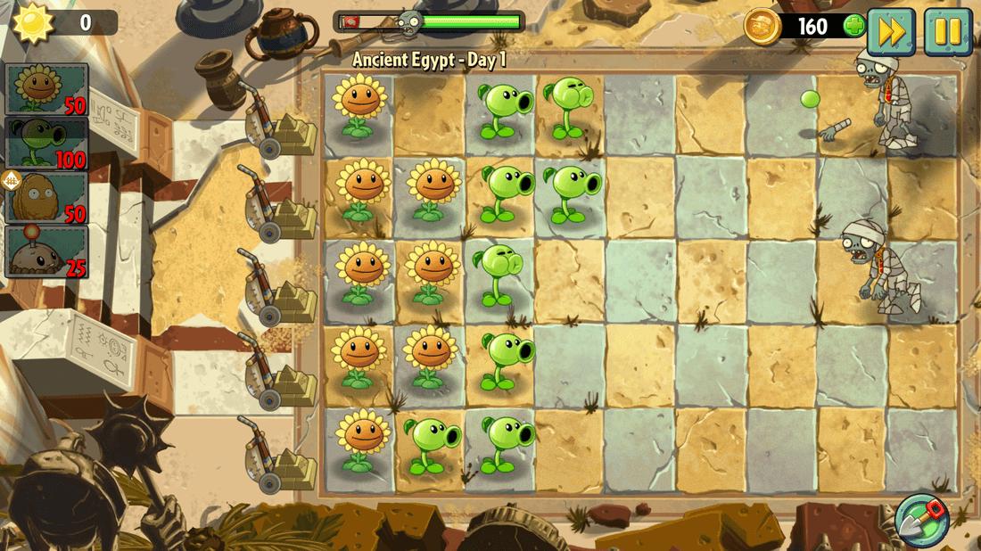 Скриншот #5 из игры Plants vs. Zombies 2