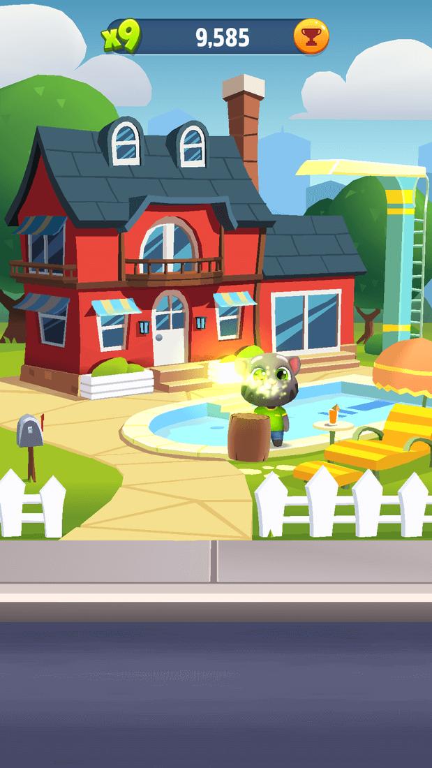 Скриншот #9 из игры Talking Tom Gold Run