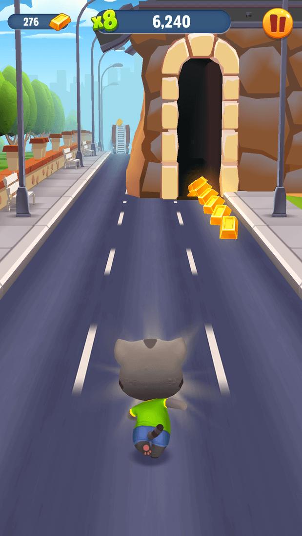 Скриншот #11 из игры Talking Tom Gold Run