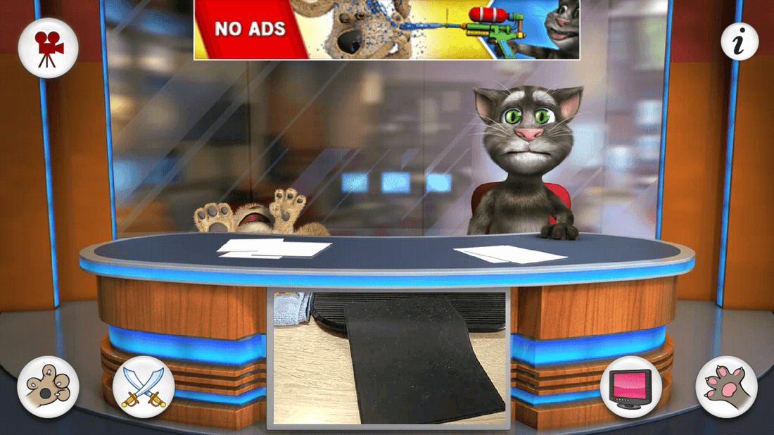 Скриншот #5 из игры Talking Tom & Ben News