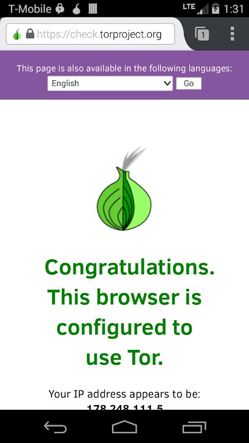 Скриншот #1 из программы Orfox