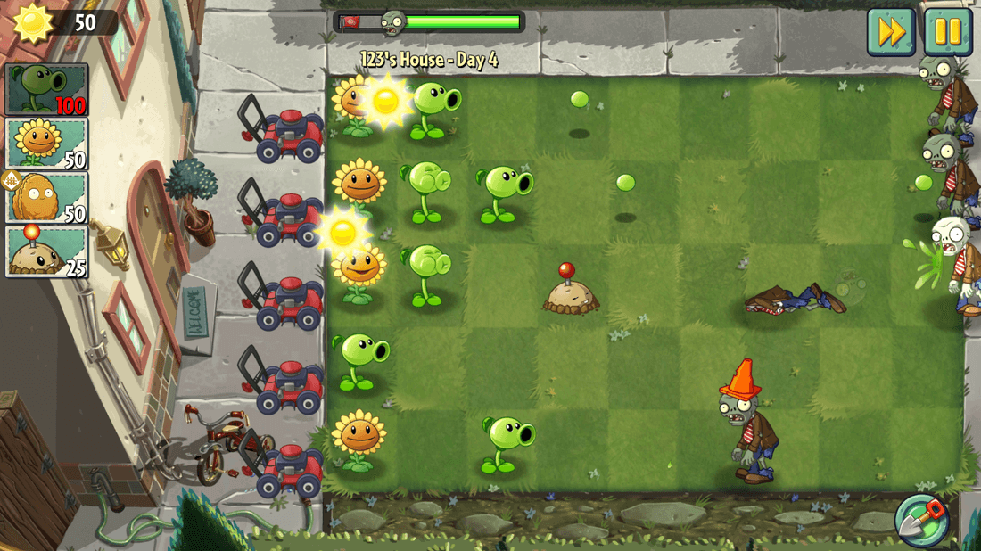 Скриншот #7 из игры Plants vs. Zombies 2