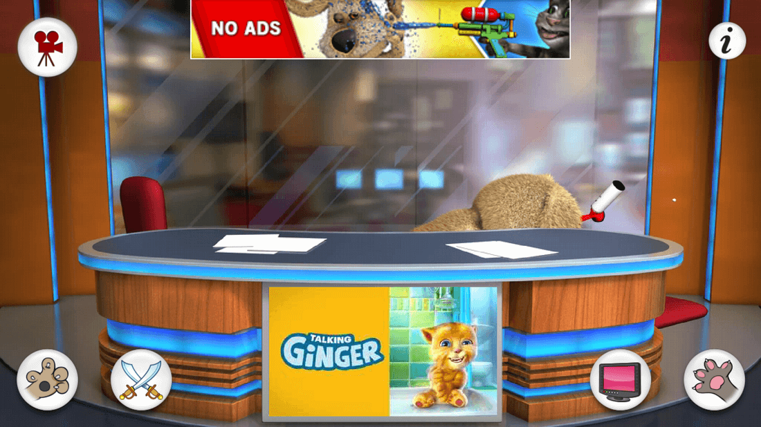 Скриншот #3 из игры Talking Tom & Ben News