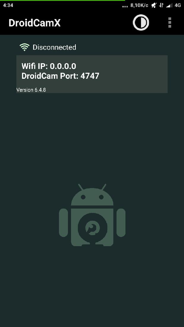 Скриншот #1 из программы DroidCamX - используй смартфон как Веб-камеру!