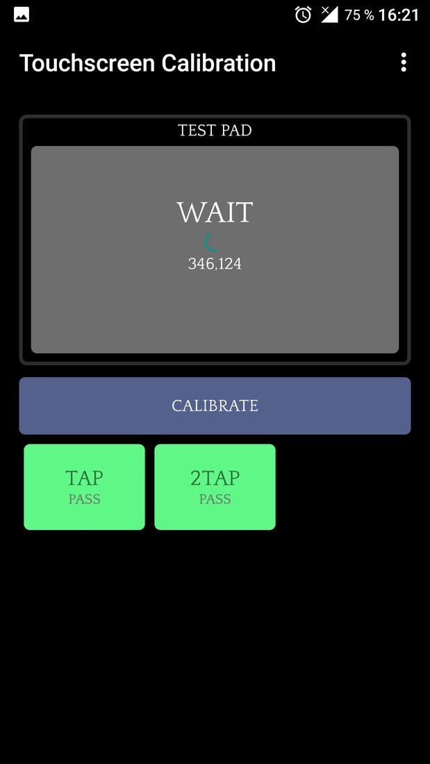 Скриншот #2 из программы Touchscreen Calibration