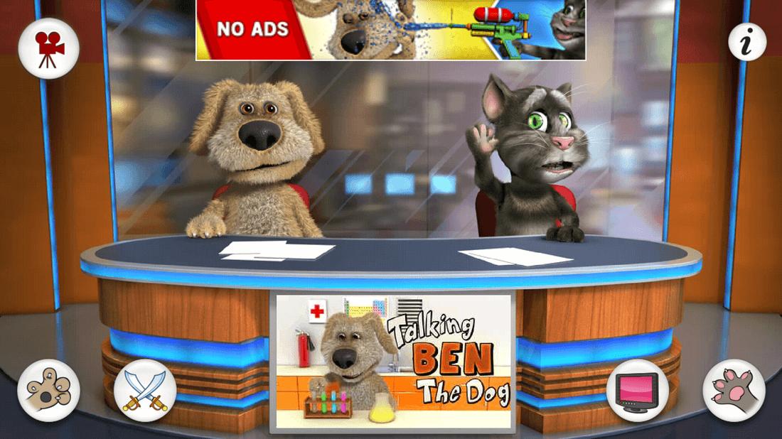 Скриншот #1 из игры Talking Tom & Ben News