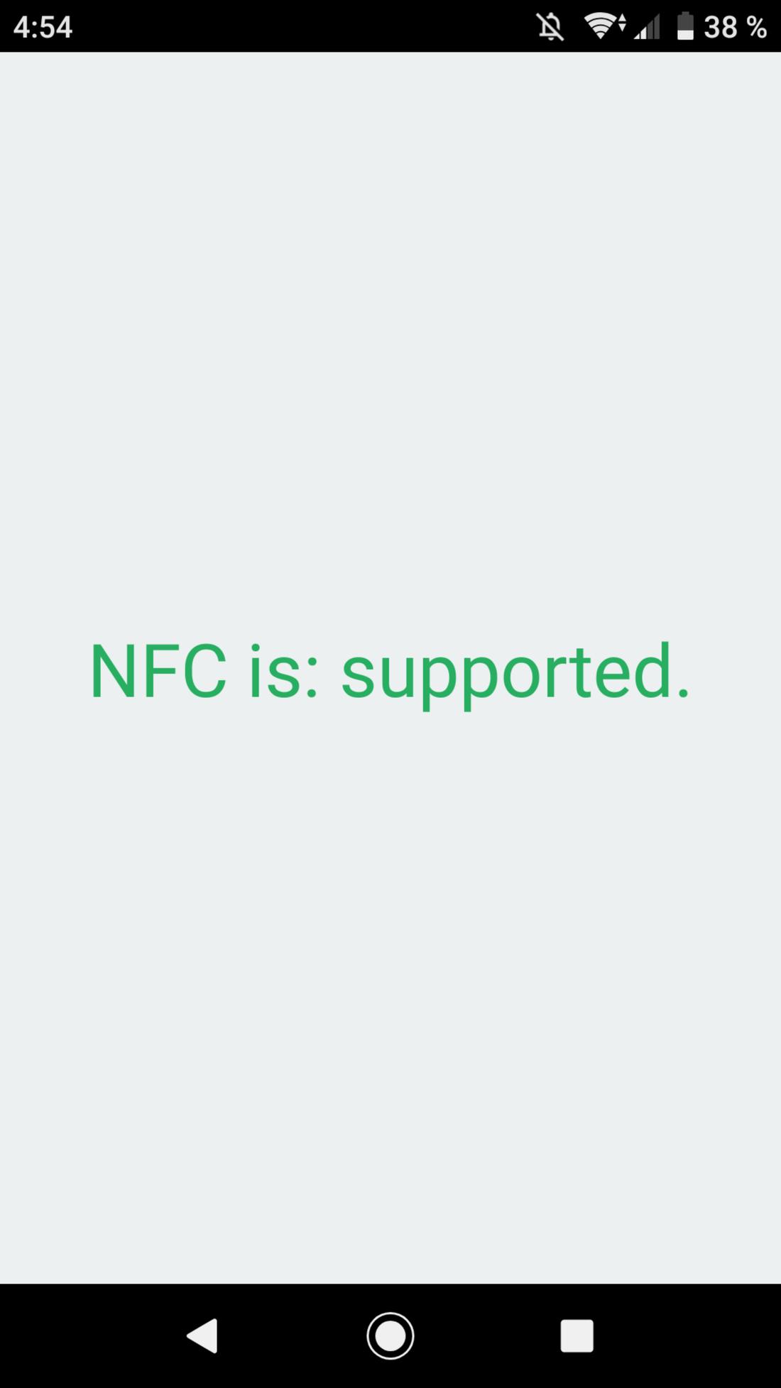 Скриншот #1 из программы NFC Enabled?