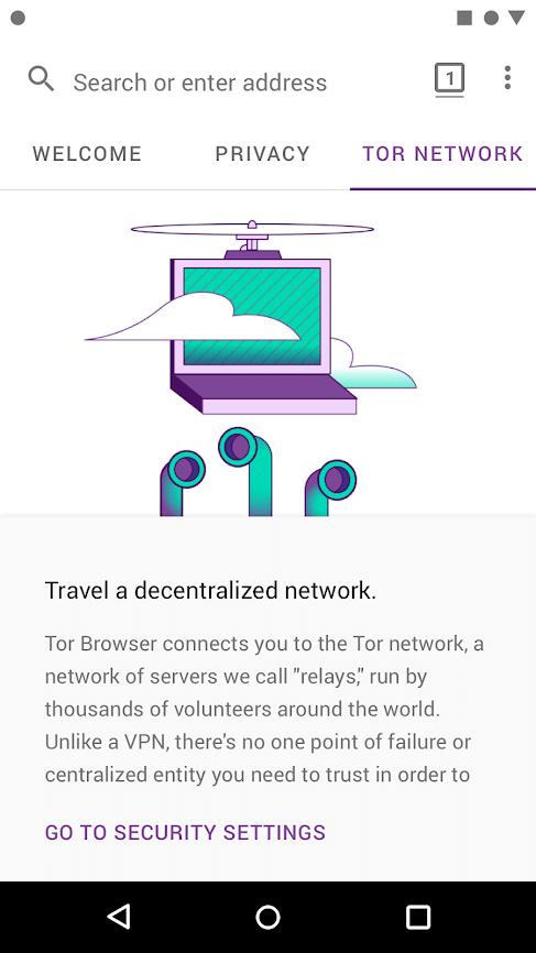 Скриншот #3 из программы Tor Browser for Android (Alpha)