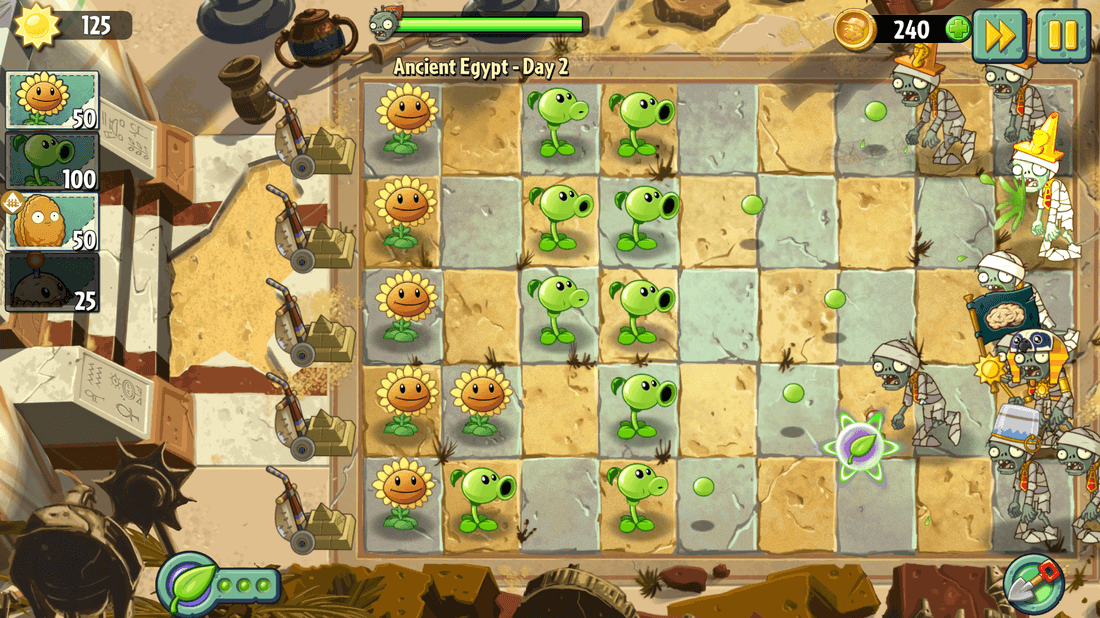 Скриншот #10 из игры Plants vs. Zombies 2