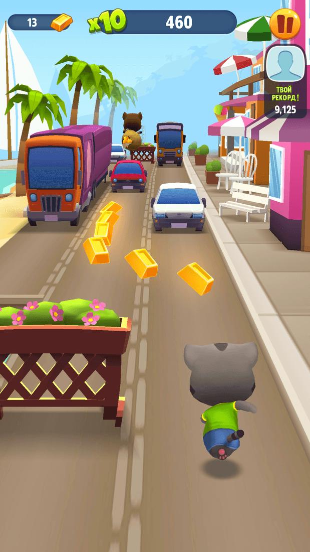 Скриншот #16 из игры Talking Tom Gold Run