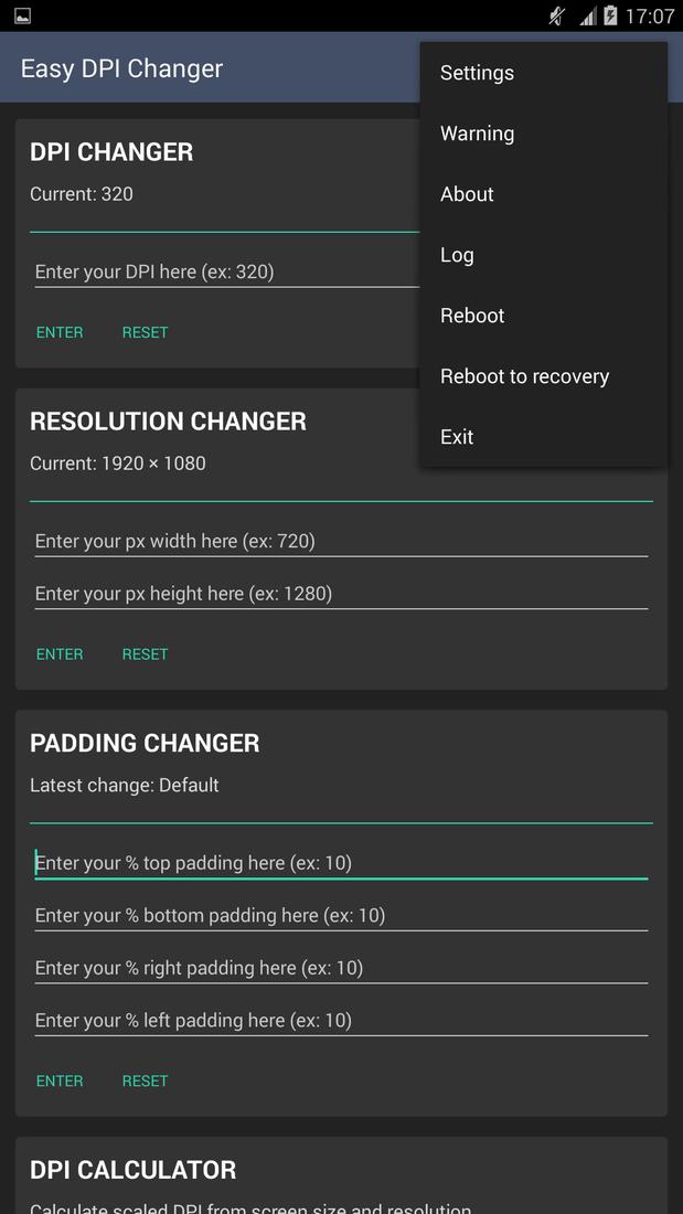 Скриншот #4 из программы Easy DPI Changer [Root]