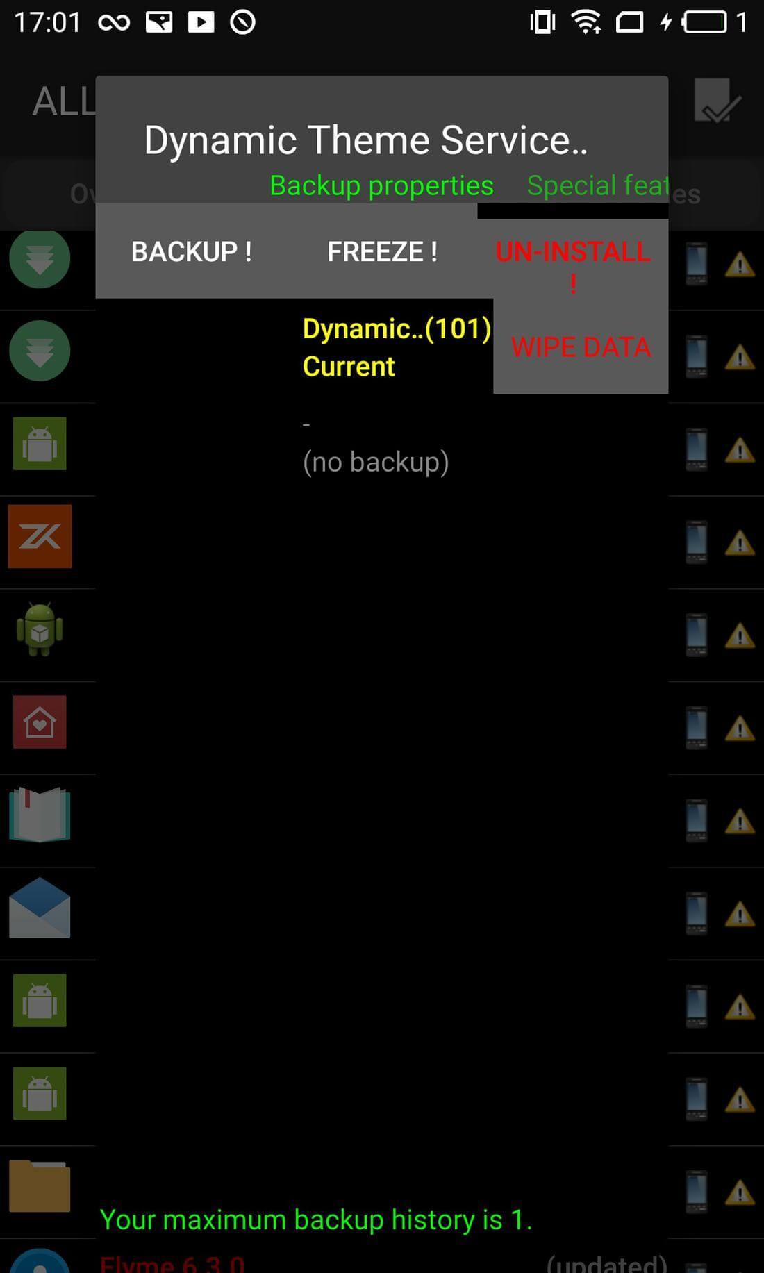 Скриншот #3 из программы Titanium Backup