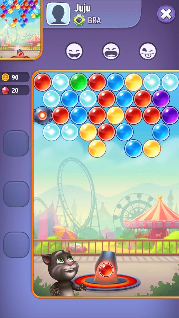 Скриншот #20 из игры Talking Tom Bubble Shooter