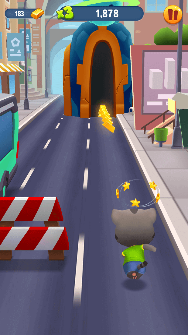 Скриншот #21 из игры Talking Tom Gold Run