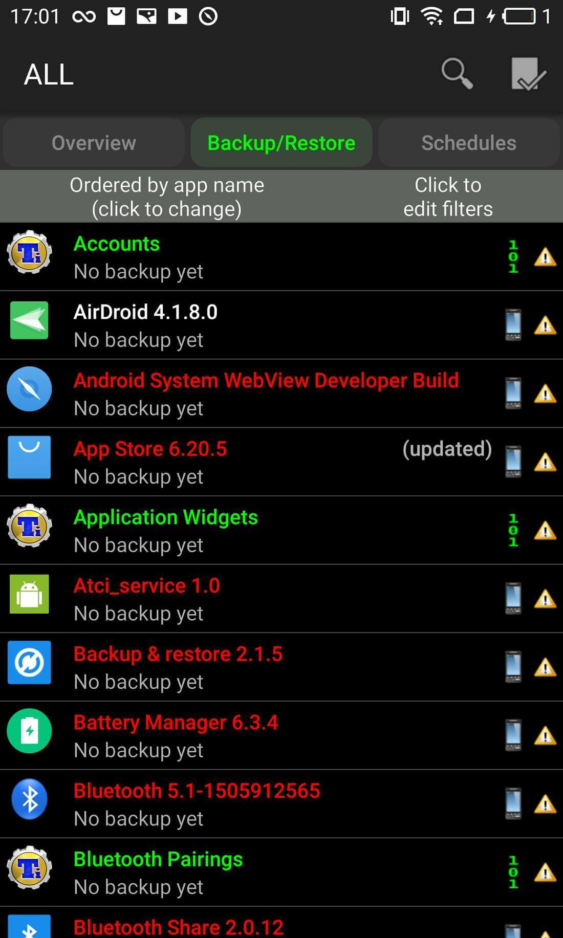 Скриншот #4 из программы Titanium Backup