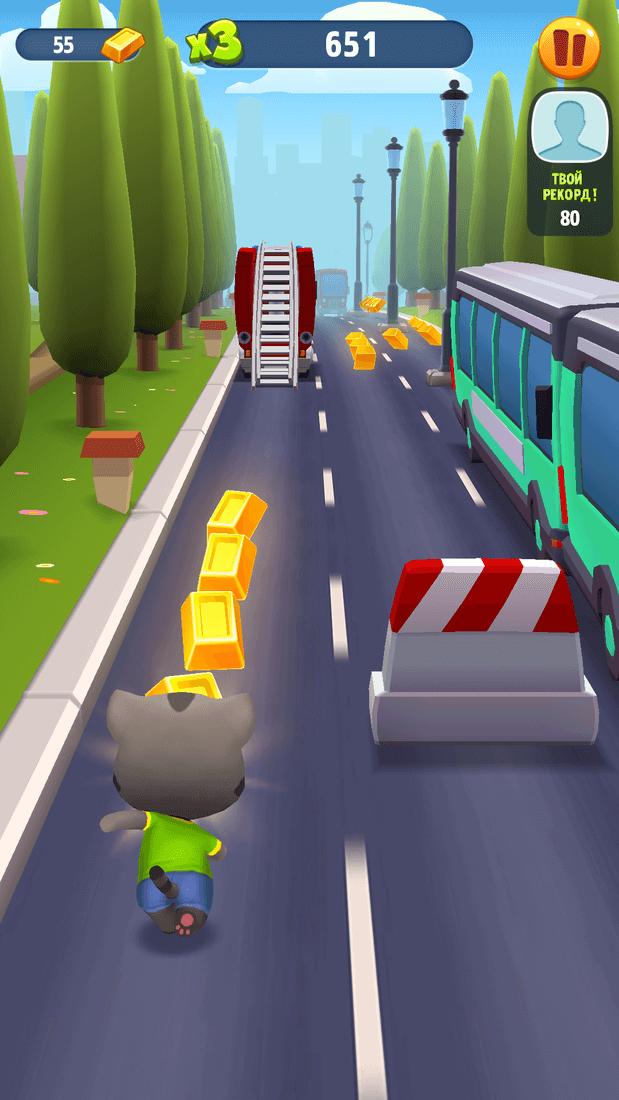 Скриншот #23 из игры Talking Tom Gold Run