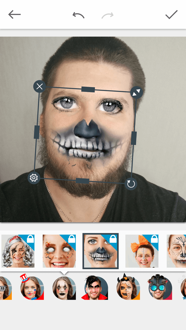 Скриншот #9 из программы Avatars+: masks and effects & funny face changer